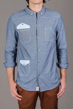 Morgan Mens Button Down Collar Chambray Shirt / by BellField