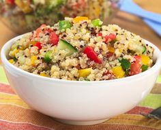 Add quinoa to your salads for a heart healthy boost!