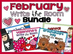 Save $ with this Bundle featuring February Themed Write the Room products