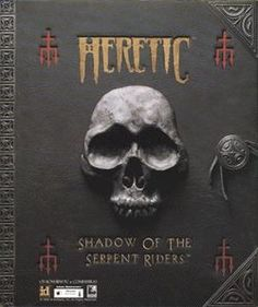 Heretic - 1996.  http://en.wikipedia.org/wiki/Heretic_(video_game)