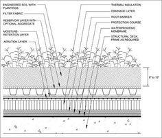 Green roofing Detail Drawings : Langley Waterproofing