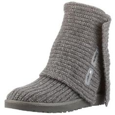 Ugg Womens Classic Cardy Grey - I have these & LOVE them. I wear them all of the time! Definitely need wool comfy boots like these in Minnesota:)