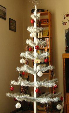 My handmade christmas tree:wire coat hangers and garland