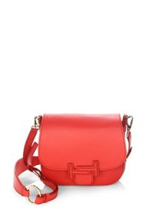 97f79863d76d TOD S Double T Leather Saddle Bag.  tods  bags  shoulder bags  leather