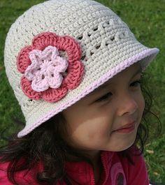 Spring Sun Hat Crochet Pattern No106 SEVEN Sizes by BBfromOz, $4.00