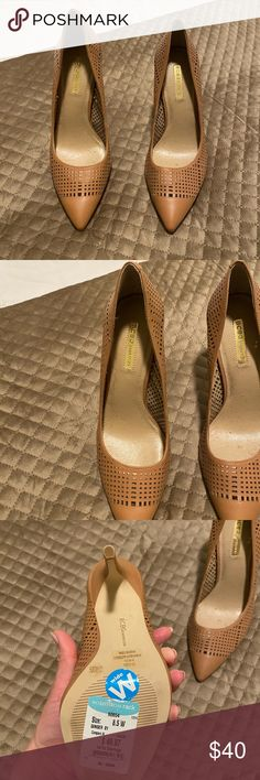 Shop Women's BCBG Tan size Heels at a discounted price at Poshmark. Description: Nude never worn. Shoes Heels, Pumps, Birkenstock, Christian Louboutin, Nude, Sandals, Best Deals, Womens Fashion, Closet