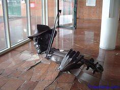 Violinist Bursting From Floor (Amsterdam, Netherlands)