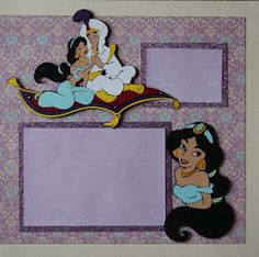 Sure Scraps A Lot: Jasmine - Aladdin Beach Scrapbook Layouts, Disney Scrapbook Pages, Scrapbook Designs, Scrapbooking Layouts, Scrapbook Cards, Scrapbook Examples, Scrapbook Background, Disney Cards, Baby Disney