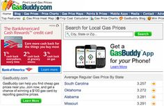 GasBuddy shows you where the cheapest gas is in your area. | 32 Amazing Websites That Will Actually Save You Money