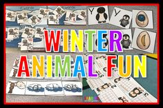 Let me introduce you to some winter animal learning fun.  This is what we used at centers to integrate our theme with our phonics and math skills.