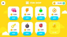 Buy GUI Kit Yellow Kid by yuhyunseok on GraphicRiver. GUI Kit Yellow Kid high-resolution graphics 545 sources as PNG 72 button icons 24 sources as PSD Game Gui, Game Icon, Game Ui Design, App Design, Flat Design, Kids Learning Apps, Ui Buttons, Cooking Toys, Android Design