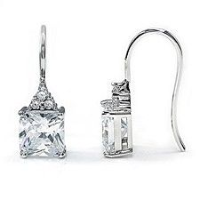Divine 4 Carat Solid 925 Sterling Silver Simulated Diamond Dangle Earrings