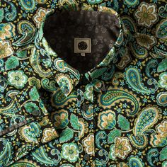 LS Brown Louis Paisley Shirt | Pretty Green | Designer fashion from Liam Gallagher