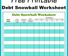 Best Free Debt Snowball Calculator Program Excel  Debt Payoff