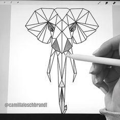 Working on a new geometric animal Geometric Animal, Zentangle, Elephant, Drawings, Animals, Instagram Images, Animales, Zentangle Patterns, Animaux