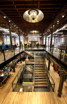 the New York Nolita neighborhood's historic Puck Building— the original home of Puck magazine and J. Ottman Lithographic Company and a 19th century survivor of the city's old printing and publishing district— welcomed its first retail tenant: national outdoor co-op Recreational Equipment, Inc., a.k.a. REI.   Design by Callison