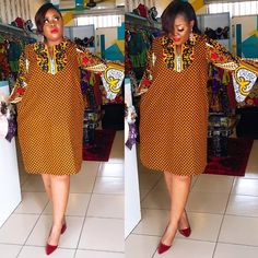 eyeka you love short dresses .all your dresses are so short. This one is not Short oh comman buy😁😁😁😁. Short African Dresses, Ankara Short Gown Styles, African Blouses, African Print Dresses, Ankara Gowns, Short Dresses, Dresses For Work, Ankara Dress, Dress Styles