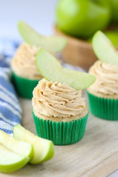 Apple Peanut Butter Cupcakes are a great surprise for an after school snack. A perfect segue to homework!