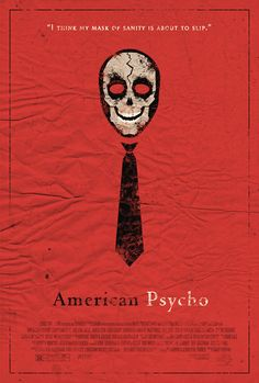 American Psycho Film, Vintage Movies, Vintage Posters, Minimalist Poster Design, Kunst Poster, Fanart, Minimal Movie Posters, Battle Royale, Alternative Movie Posters