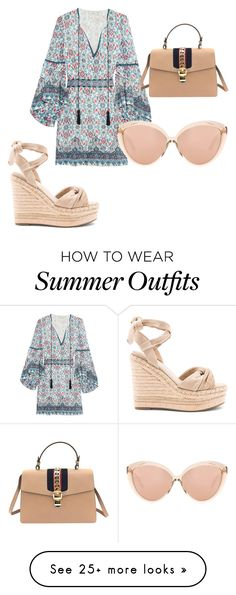 """Look cute in this summer must have outfit!"" by kahala-shop on Polyvore featuring Talitha, Kendall + Kylie, Gucci and Linda Farrow"