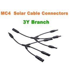 $8.89 (Buy here: http://appdeal.ru/3tur ) MC4 Solar Panel Adaptor Cable Y Branch Connector 3 Y MC4 Solar Cable Connector for just $8.89