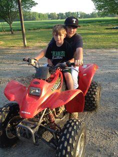 riding 4-wheelers