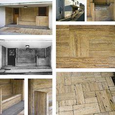 reconstruction - Villa Muller adolf Loos travertine, access