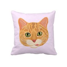 Cute Orange Cat Face Pillows. #cats #kittens #catlovers