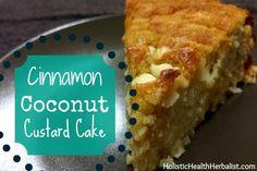 cinnamon coconut custard cake