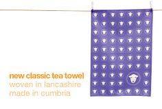 No chance of it being 'grim up north' with herdy's new colourful tea towels. Printed and made in Cumbria from 100% cotton fabric, woven in Lancashire. Machine washable at 40. Handy hanger label. Available in six colours. Size 48 x 68 cm.