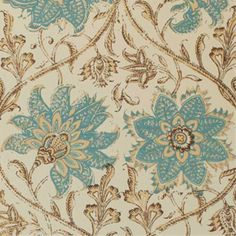 Palampore Blossom Wallpaper Middle East Culture, West Indies Style, Stencil Painting, Blue Design, Designer Wallpaper, Paint Colors, Pattern Design, Breakfast Nooks, Tapestry