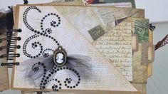 Vintage Mini Album DCWV Timeless Type Mini Albums, Mini Scrapbook Albums, Scrapbook Paper Crafts, Scrapbooking, Handmade Journals, Vintage Journals, Art Journals, Altered Art, Altered Books