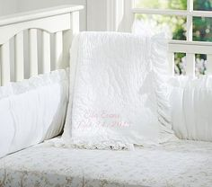 Ruffle Collection Nursery Bedding #pbkids, I want just the quilt to go with the grey and white sheets, and the lulu skirt