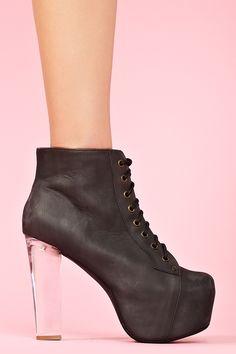 "Lita Clear Platform Boot $175  momma needs some hooker heels   *Heel Height: 5.25""  *Platform Height: 2"""