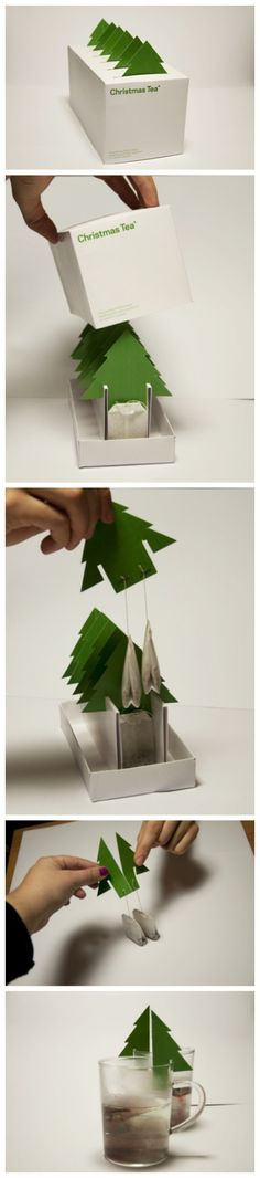 Christmas Tea茶包,很有心的创意设计。