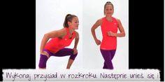 Zdjęcie 6 najlepszych ćwiczeń na wewnętrzne partie ud. Tylko 6 minut dziennie! #4 Beautiful Legs, Cardio, Thighs, Health Fitness, Style, Diet, Diet Tips, Exercise, Health And Fitness