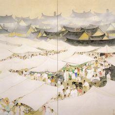 山口蓬春 明治26年-昭和46年 北海道生まれ 『市場』 昭和7年作 東京藝術大学大学美術館所蔵