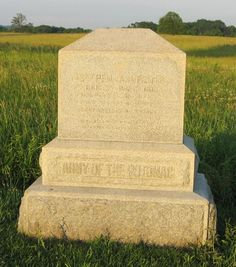 Monument to the 143rd Pennsylvania Infantry on Cemetery Ridge at Gettysburg