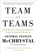 Team of Teams: New Rules of Engagement for a Complex World by Stanley A. McChrystal. As commander of Joint Special Operations Command (JSOC), General Stanley McChrystal discarded a century of management wisdom and pivoted from a pursuit of mechanical efficiency to organic adaptability. In this book, he shows how any organization can make the same transition to act like a team of teams - where small groups combine the freedom to experiment with a relentless drive to share their experience.