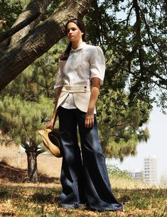 Catherine Denim Trousers Handmade Clothes, Trousers, Pants, Denim, Skirts, Red, Cotton, House, Shopping