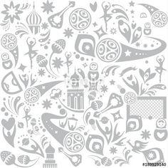 Fotolia  2018 WORLD CUP RUSSIA FOOTBALL Wallpaper SOCCER 2018 banner concept Soccer world competition abstract seamless pattern modern dynamic shapes, lines design, sports, football symbols, soccer ball, russian folk art elements, pattern, t-shirt, web, art, PRINT vector template. FIFA 2018