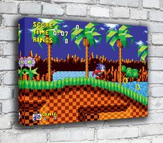 Sonic The Hedgehog - RETRO GAMING CANVAS in Art, Canvas/ Giclee Prints   eBay