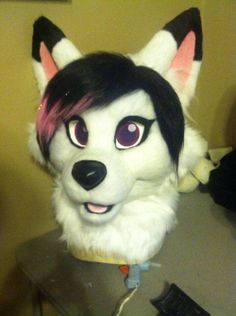 Now wouldn't this be perfect for Katalist. Fursuit head and photos are by WildPup/Northshore Mascots