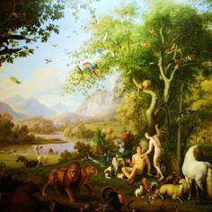 Wenzel Peter, Adam et Eve au Paradis Terrestre Genesis Creation, Genesis 2, Adam Et Eve, Tree Day, The Creation Of Adam, Paradise Garden, Living Off The Land, Garden Of Eden, Holy Family