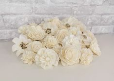"""This 50 piece sola wood flower assortment is absolutely beautiful! Containing some of our most popular flower like lotus and wild zinnia, it also features one of our new favorites, the 3"""" Stella. Resembling flowers that could be picked right from a field, this assortment is perfect for any sola flower project you are working on. Use these flowers to create wood flower bouquets and centerpieces, or add it to your craft projects! #diyflowers #woodflowers #solawood #diycraft #craftideas #diy"""