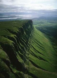 Aerial photograph of Ben Bulden, County Sligo, Ireland.
