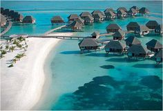 The Maldives. Leaning towards this as one part of the Honeymoon. Looks like the most peaceful place on Earth.
