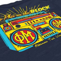 Phi Mu - New Phi's on the Block Design - Bid Day Design - Sorority Shirts - check us out on B-Unlimited.com