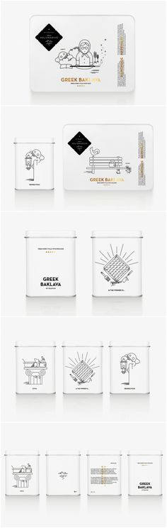 Greek Baklava Desert with Engaging Greek Contemporary Packaging Experience Design Agency: Luminous Design Group Brand / Project Name: Kolionasios Greek Baklava Location: Greece Category: #Food #Confectionery World Brand & Packaging Design Society