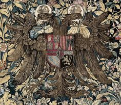 Tapestry with the arms of Emperor Charles V – arms that #William would have been very familiar of.(#Rijksmuseum)